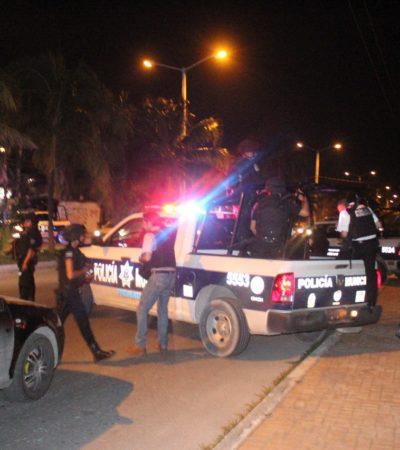 De película, 'operativo' de la policía en Cancún