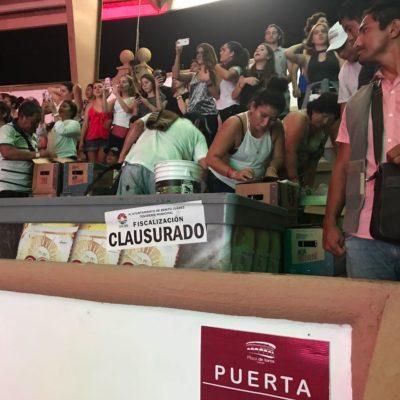 CLAUSURA EN LA PLAZA DE TOROS: Durante concierto, hallan a menores bebiendo alcohol e imponen sanción