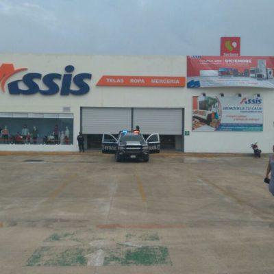 Reporte de asalto en tienda de telas de la Kabah