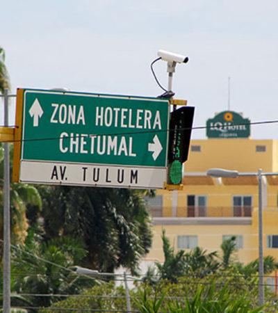 Será de 2 mil mdp la inversión para instalar 3 mil cámaras de vigilancia en ciudades de Quintana Roo