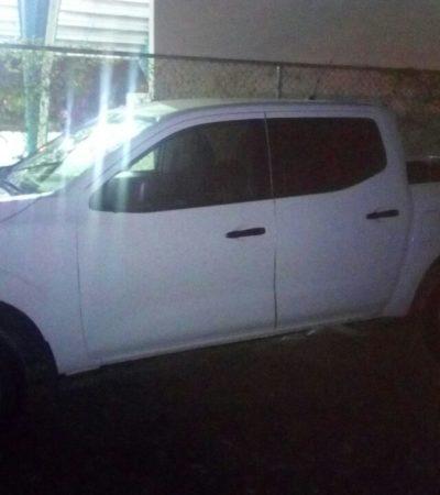 Recuperan en Playa del Carmen camioneta robada en Tabasco
