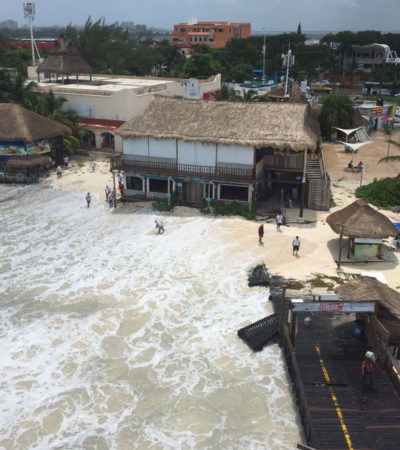 Pérdidas de 120 mil dólares por mar de fondo en Cancún, reporta el sector náutico