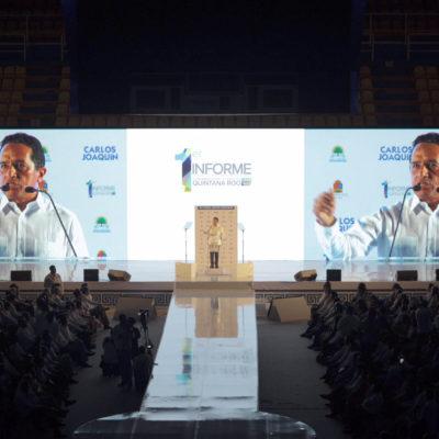INFORME EN CANCÚN: Ratifica Carlos Joaquín mensaje de cambio al cumplir un año de Gobierno