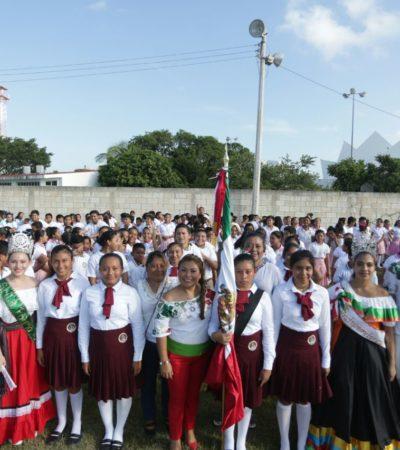 DESFILE EN TULUM: Conmemoran el CCVII Aniversario del Inicio de la Independencia de México