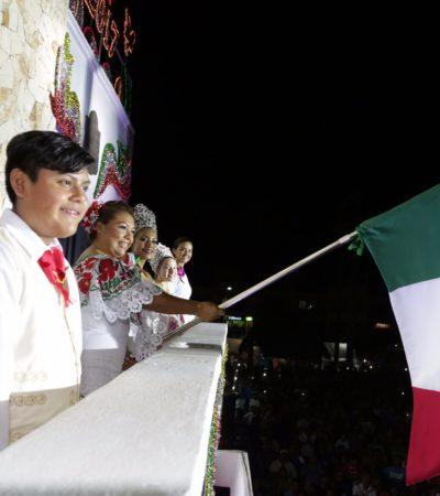 CELEBRA TULUM FIESTAS PATRIAS: Encabeza Romi Dzul verbena mexicana ante cientos