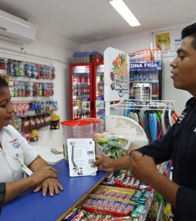 Realiza Seguridad Pública pláticas y visitas para la prevención del delito en comercios de Tulum