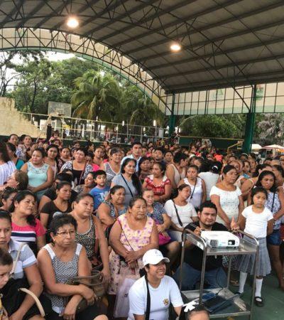 Punta Allen recibe beneficios de salud: Va Gobierno con descacharrización, nebulización, vacunación y pláticas