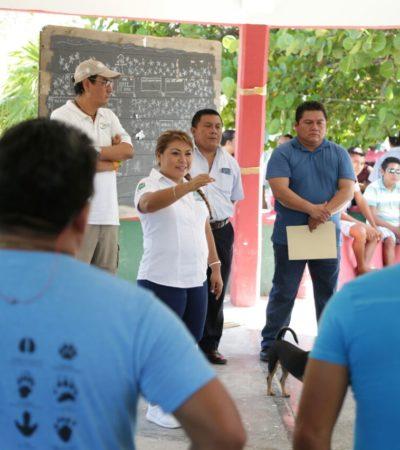 Va Romi Dzul a Punta Allen y alcanza primeros acuerdos con pobladores para la reparación del camino de acceso