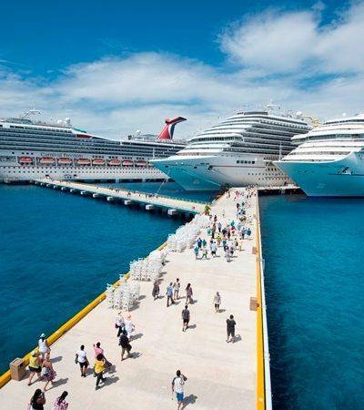 Recibe Cozumel más cruceros afectados por el huracán 'Irma'