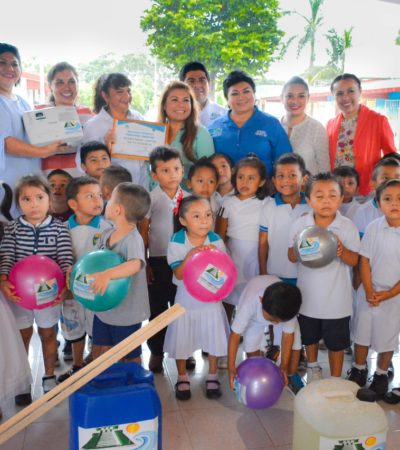 Entrega Alcaldesa apoyos para jardín de niños 'Tumben Zazil' en Tulum