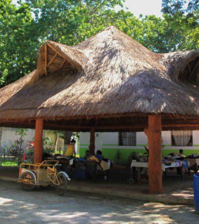 Rehabilitan la palapa de la Casa del Adulto Mayor 'Nohoch Uinic' en Puerto Morelos