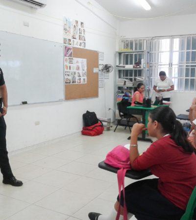 Dan platicas para la prevención de la violencia y el delito en escuelas de Puerto Morelos