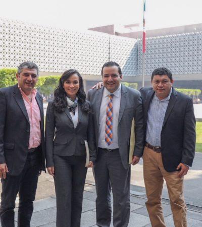 Presenta Laura Fernández en la Cámara de Diputados proyectos de infraestructura por 200 mdp
