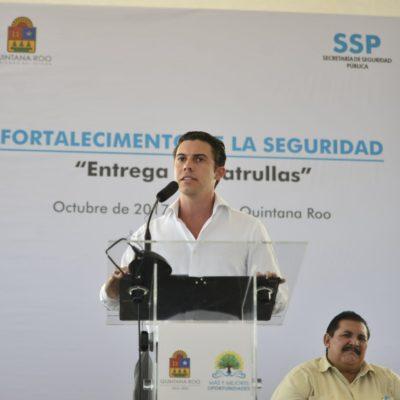 Recibe Cancún 40 patrullas para reforzar vigilancia