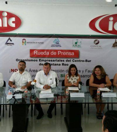 AFECTARÁ ÁREA NATURAL PROTEGIDA EL DESARROLLO DEL SUR: Frente común de empresarios para rechazar la creación de nuevo zona de restricción ambiental en Bacalar