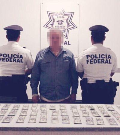 Detienen a argentino con 60 mil dólares en efectivo en el aeropuerto de Cancún