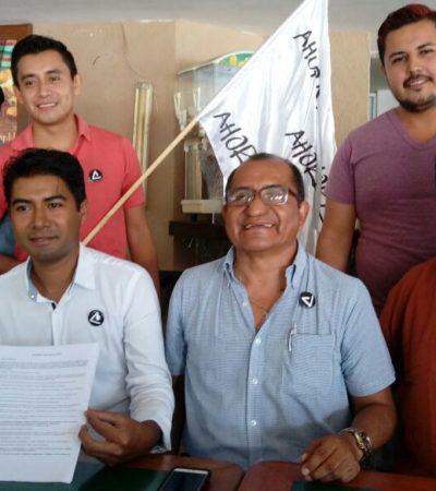 Presenta 'Ahora' a Omar Ortiz como su candidato independiente para Solidaridad