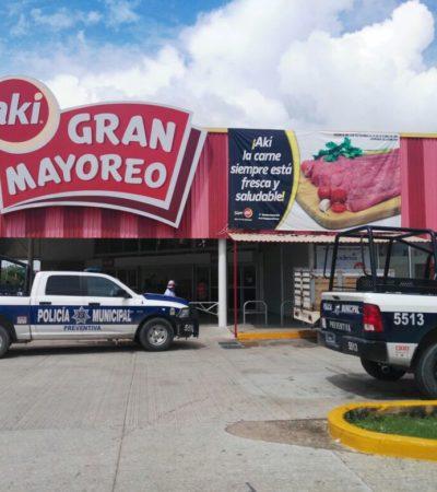 Asaltan a cachazos el Super Aki de la Chac Mool en Cancún