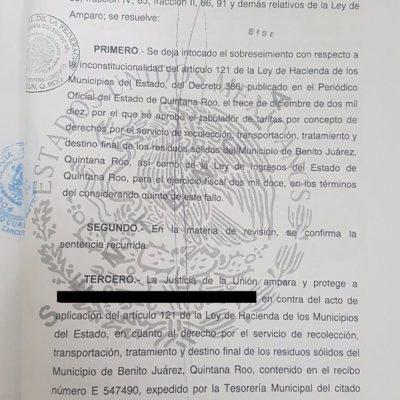 Inconstitucional, cobro de la basura en Benito Juárez