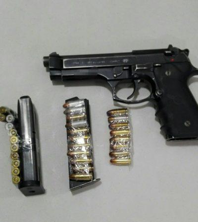 Hallan arma en equipaje en aeropuerto de Cancún