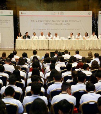 Inauguran XXIV Congreso Nacional de Ciencia y Tecnología del Mar en Solidaridad