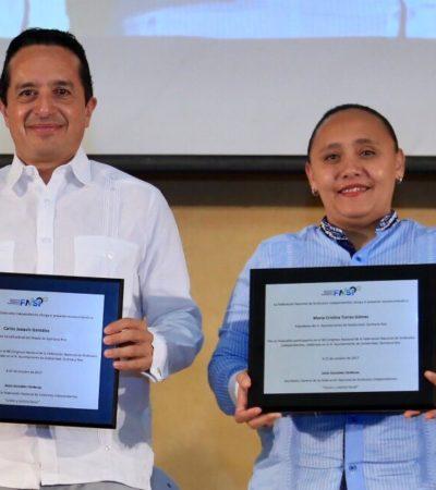 Acuden Gobernador y Alcaldesa de Solidaridad a clausura del 48 Congreso de la Federación Nacional de Sindicatos Independientes de México