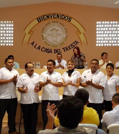 Jorge Castro, nuevo líder de taxistas de Puerto Morelos