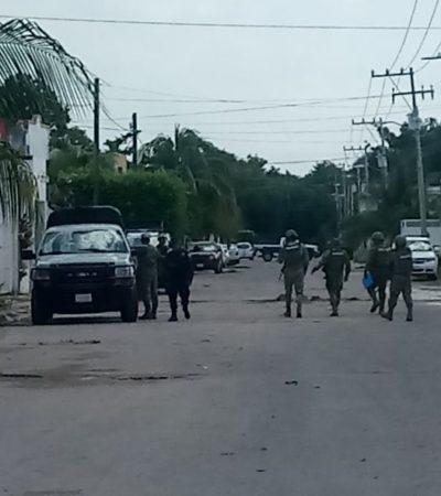 Aseguran armas y droga en cateo a casa de Chetumal