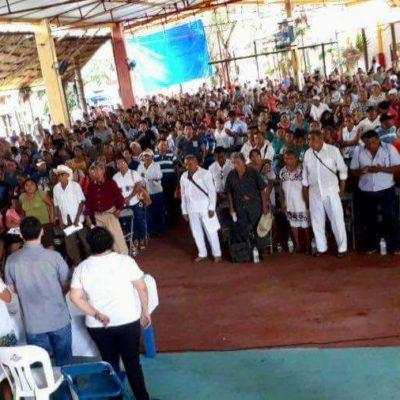Logra partido 'joaquinista' acreditar asamblea en Zona Maya