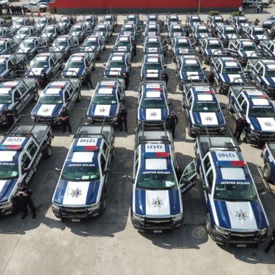 ENTREGAN PATRULLAS A MUNICIPIOS: Invierten 112 mdp para adquirir 162 unidades para enfrentar crisis de seguridad en QR