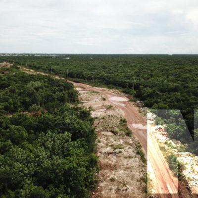GALERÍA Y VIDEO | LA EXIGENCIA CIUDADANA PARA ABRIR LA AVENIDA 135: Son menos de 10 kilómetros sin pavimentar que solucionarían un problema de vialidad a Cancún