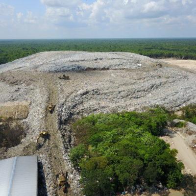 RELLENO SANITARIO, AL BORDE DEL COLAPSO: Fallas en su manejo, agotaron vida útil de la última celda; a marchas forzadas se construye otra para evitar contingencia ambiental en Cancún