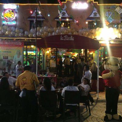 Sólo una sanción, más no clausura, recibió restaurante La Parilla por cerrar la Avenida Yaxchilán para festejar aniversario