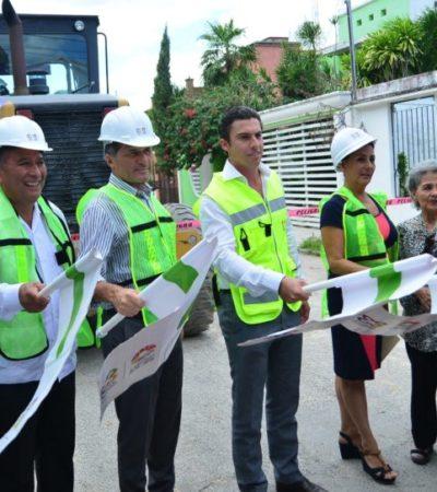 Inician pavimentación de vialidades en la Región 507 de Cancún