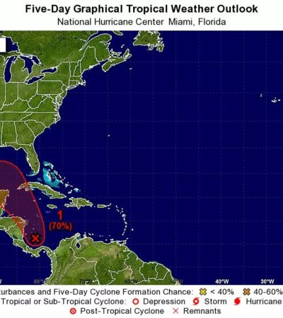 POTENCIAL DEPRESIÓN TROPICAL SE ACERCA A QR: Zona de baja presión tiene 70% de evolucionar a ciclón y afectar costas mexicanas