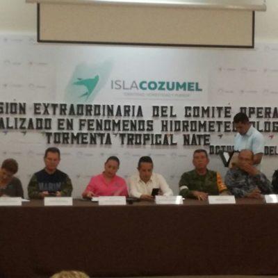 Pasan revista a subcomités de contingencia en Cozumel por tormenta tropical 'Nate'