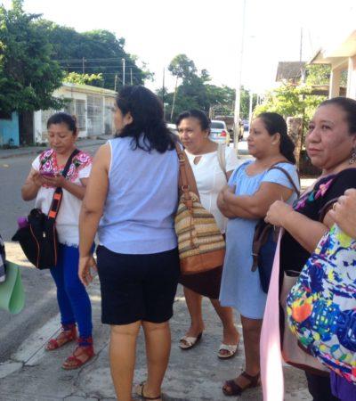 Maestras de 13 escuelas de Carrillo Puerto, en paro indefinido