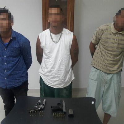 Detienen a tres hombres armados en Urban Playa-Tulum