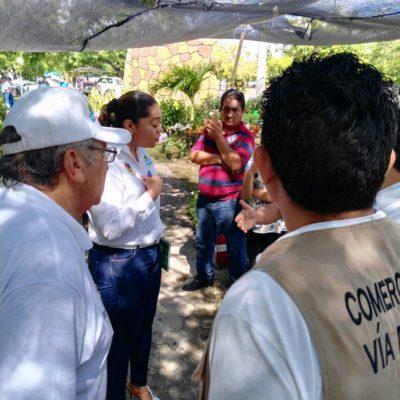 Incautan plantas de vendedores junto al parque Kabah en Cancún