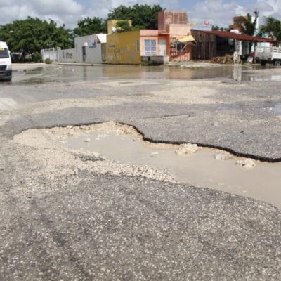 Tras las lluvias, inicia diagnóstico de baches en Cancún
