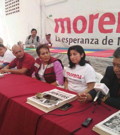 Rechazan coordinadores de Morena a Marybel Villegas, Jesús Pool y Juanita Alonzo