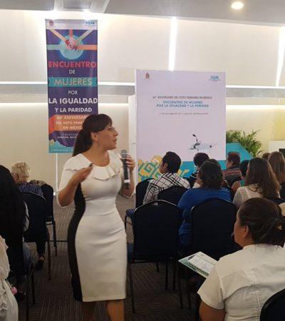 LAS MUJERES TOMAN LA PALABRA: Imparten capacitación política durante el 'Encuentro de mujeres por la igualdad y paridad'