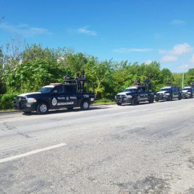 'Estrenan' a Policías Federales con recorrido por Cancún