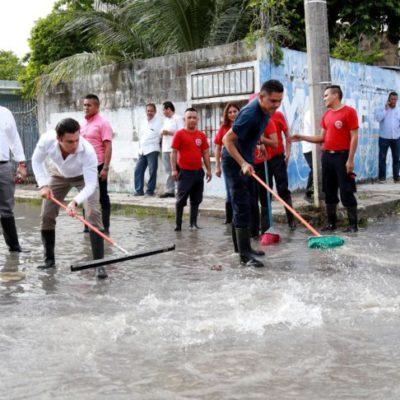 SE ANTICIPAN A OTRA EMERGENCIA PLUVIAL: Realizan una nueva limpieza de más de 3 mil rejillas de drenaje para evitar problemas de inundaciones posteriores