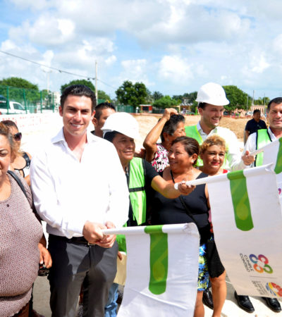Inicia construcción de la primera de diez canchas de pasto sintético proyectadas para Cancún