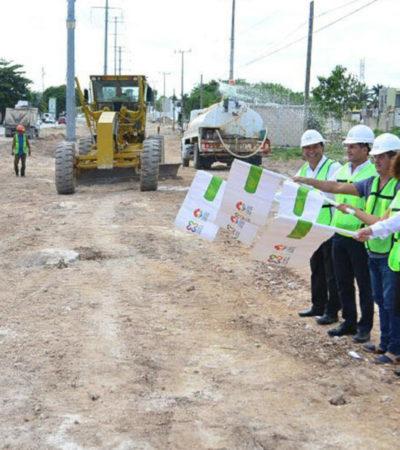 Inician reconstrucción de la Avenida 135 en la SM 515 y 518 en Cancún