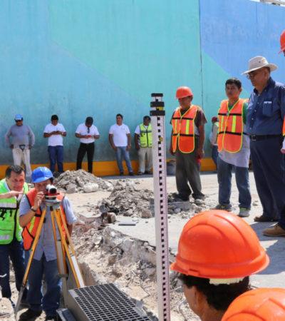 Explican obra del paso a desnivel en Bonfil: Se construye nuevo sistema de drenaje pluvial