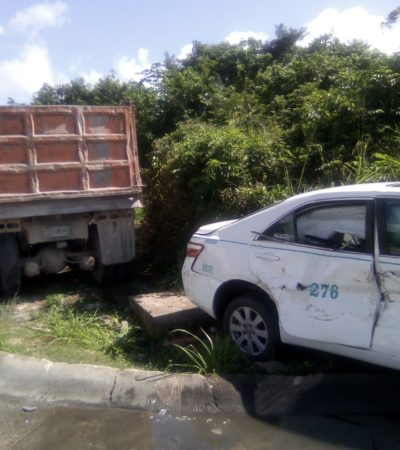 DENUNCIAN 'CONTUBERNIO' PARA COBRAR MÁS: Taxista se rehúsa ser remolcado por grúas Peca