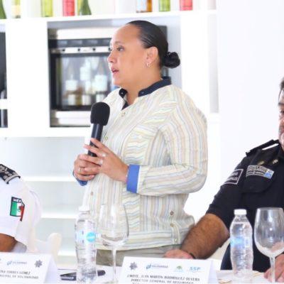 Participa Alcaldesa de Solidaridad en reunión de prevención del delito con mandos policiacos