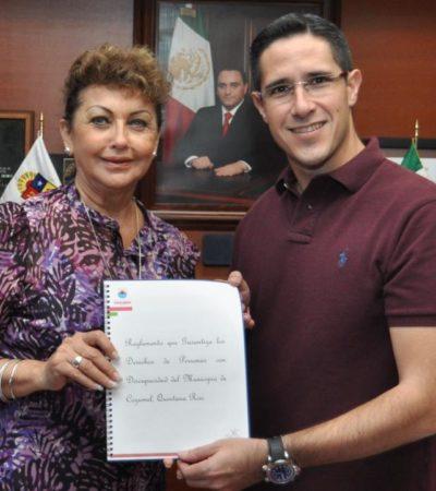 Sospechan presunto plagio en reglamento de Gina Ruiz en Cozumel